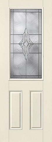 WDMA 34x96 Door (2ft10in by 8ft) Exterior Smooth Wellesley 8ft Half Lite 2 Panel Star Single Door 1