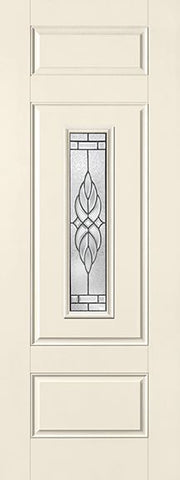WDMA 34x96 Door (2ft10in by 8ft) Exterior Smooth Fiberglass Impact Door 8ft Center Lite Kensington 2