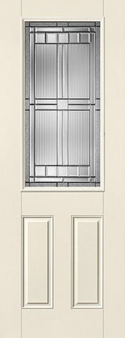 WDMA 34x96 Door (2ft10in by 8ft) Exterior Smooth SaratogaTM 8ft Half Lite 2 Panel Star Single Door 1