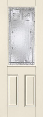 WDMA 34x96 Door (2ft10in by 8ft) Exterior Smooth MaplePark 8ft Half Lite 2 Panel Star Single Door 1
