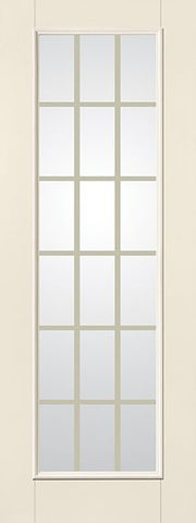 WDMA 34x96 Door (2ft10in by 8ft) Patio Smooth Fiberglass Impact French Door 8ft Full Lite With Stile Line GBG Flat White Low-E 2