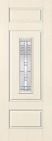 WDMA 34x96 Door (2ft10in by 8ft) Exterior Smooth Fiberglass Impact Door 8ft Center Lite Maple Park 1