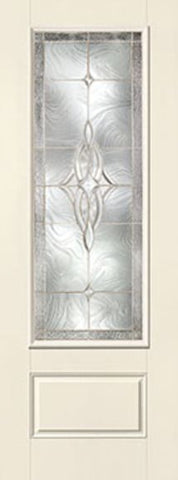 WDMA 34x96 Door (2ft10in by 8ft) Exterior Smooth Wellesley 8ft 3/4 Lite 1 Panel Star Single Door 1