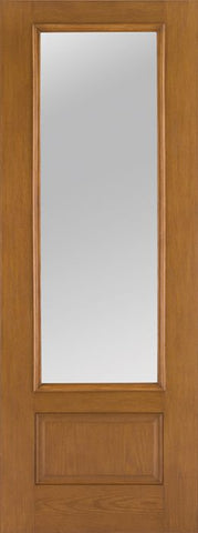 WDMA 34x96 Door (2ft10in by 8ft) French Oak Fiberglass Impact Door 8ft 3/4 Lite Clear 1
