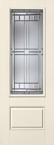 WDMA 34x96 Door (2ft10in by 8ft) Exterior Smooth SaratogaTM 8ft 3/4 Lite 1 Panel Star Single Door 1