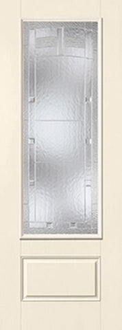 WDMA 34x96 Door (2ft10in by 8ft) Exterior Smooth MaplePark 8ft 3/4 Lite 1 Panel Star Single Door 1