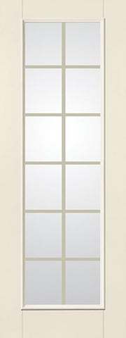 WDMA 34x96 Door (2ft10in by 8ft) French Smooth Fiberglass Impact Door 8ft Full Lite With Stile GBG Flat White 1