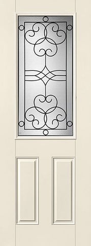 WDMA 34x96 Door (2ft10in by 8ft) Exterior Smooth Fiberglass Impact Door 8ft 1/2 Lite Salinas 2