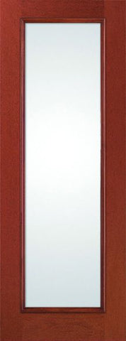 WDMA 34x96 Door (2ft10in by 8ft) French Mahogany Fiberglass Impact Door 8ft Full Lite with Stile Lines Low-E 1