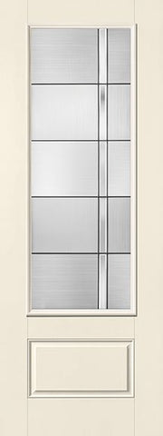 WDMA 34x96 Door (2ft10in by 8ft) Exterior Smooth Fiberglass Impact Door 8ft 3/4 Lite Axis 2