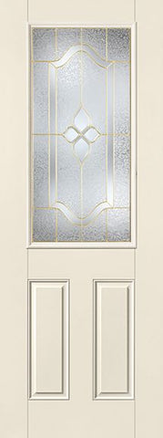WDMA 34x96 Door (2ft10in by 8ft) Exterior Smooth Fiberglass Impact Door 8ft 1/2 Lite Concorde 2