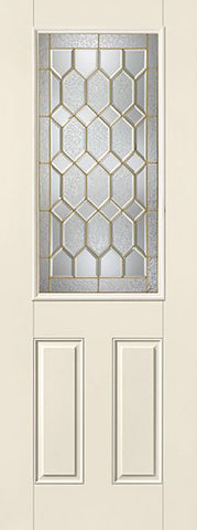 WDMA 34x96 Door (2ft10in by 8ft) Exterior Smooth Fiberglass Impact Door 8ft 1/2 Lite Crystalline 2