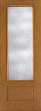 WDMA 34x96 Door (2ft10in by 8ft) French Oak Fiberglass Impact Exterior Door 8ft 3/4 Lite Rainglass 2