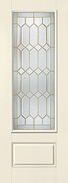 WDMA 34x96 Door (2ft10in by 8ft) Exterior Smooth Fiberglass Impact Door 8ft 3/4 Lite Crystalline 2