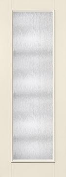 WDMA 34x96 Door (2ft10in by 8ft) French Smooth Fiberglass Impact Exterior Door 8ft Full Lite With Stile Lines Chord 1