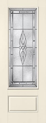 WDMA 34x96 Door (2ft10in by 8ft) Exterior Smooth Fiberglass Impact Door 8ft 3/4 Lite Kensington 2