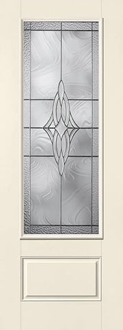 WDMA 34x96 Door (2ft10in by 8ft) Exterior Smooth Fiberglass Impact Door 8ft 3/4 Lite Wellesley 1