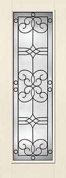 WDMA 34x96 Door (2ft10in by 8ft) Exterior Smooth Fiberglass Impact Door 8ft Full Lite With Stile Salinas 1