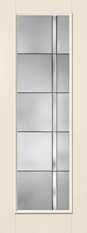 WDMA 34x96 Door (2ft10in by 8ft) Exterior Smooth Fiberglass Impact Door 8ft Full Lite With Stile Axis 2