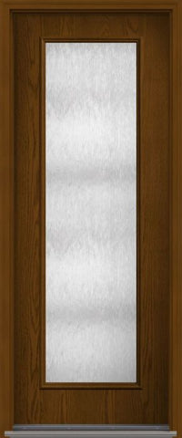 WDMA 34x96 Door (2ft10in by 8ft) French Oak Chord 8ft Full Lite Flush Fiberglass Single Exterior Door 1
