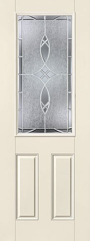 WDMA 34x96 Door (2ft10in by 8ft) Exterior Smooth Fiberglass Impact Door 8ft 1/2 Lite Blackstone 2