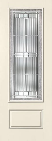 WDMA 34x96 Door (2ft10in by 8ft) Exterior Smooth Fiberglass Impact Door 8ft 3/4 Lite Saratoga 2