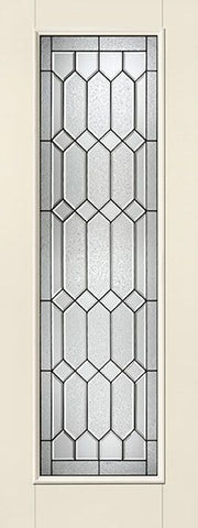 WDMA 34x96 Door (2ft10in by 8ft) Exterior Smooth Fiberglass Impact Door 8ft Full Lite With Stile Line Crystalline 2