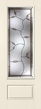 WDMA 34x96 Door (2ft10in by 8ft) Exterior Smooth Fiberglass Impact Door 8ft 3/4 Lite Avonlea 2