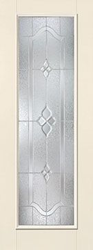 WDMA 34x96 Door (2ft10in by 8ft) Exterior Smooth Fiberglass Impact Door 8ft Full Lite With Stile Concorde 2