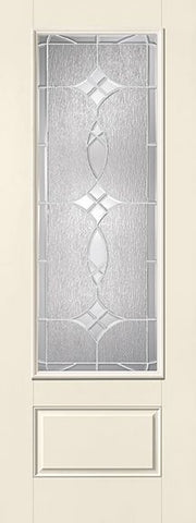 WDMA 34x96 Door (2ft10in by 8ft) Exterior Smooth Fiberglass Impact Door 8ft 3/4 Lite Blackstone 2