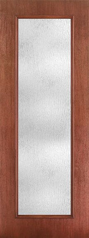 WDMA 34x96 Door (2ft10in by 8ft) Patio Mahogany Fiberglass Impact Exterior Door 8ft Full Lite Rainglass 1
