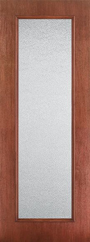 WDMA 34x96 Door (2ft10in by 8ft) French Mahogany Fiberglass Impact Exterior Door 8ft Full Lite Granite 1