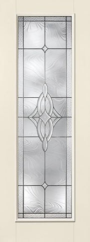 WDMA 34x96 Door (2ft10in by 8ft) Exterior Smooth Fiberglass Impact Door 8ft Full Lite With Stile Wellesley 1