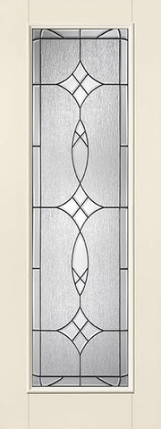 WDMA 34x96 Door (2ft10in by 8ft) Exterior Smooth Fiberglass Impact Door 8ft Full Lite With Stile Blackstone 1