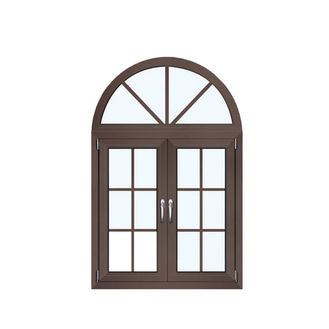 WDMA 36 X 48 Opening 180 Degree Powder Coating Glass Veranda Aluminium Round Top Casement Window