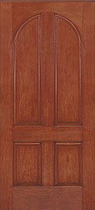 WDMA 36x80 Door (3ft by 6ft8in) Exterior Rustic Fiberglass Impact Door 6ft8in 4 Panel Round Top 1