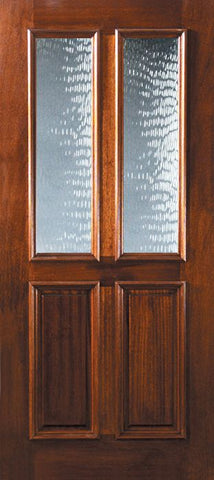 WDMA 36x80 Door (3ft by 6ft8in) Exterior Malapoga Hardwood 36in x 80in Twin Lite DoorCraft Mahogany Door 1