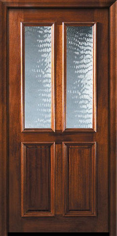 WDMA 36x80 Door (3ft by 6ft8in) Exterior Malapoga Hardwood 36in x 80in Twin Lite DoorCraft Mahogany Door 2