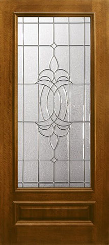 WDMA 36x80 Door (3ft by 6ft8in) Exterior Mahogany 36in x 80in 3/4 Lite Colonial DoorCraft Door 1