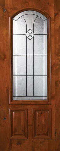 WDMA 36x80 Door (3ft by 6ft8in) Exterior Knotty Alder 36in x 80in Cantania Arch Lite Alder Door 1