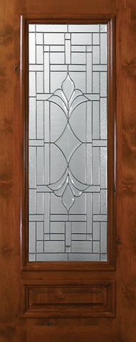 WDMA 36x80 Door (3ft by 6ft8in) Exterior Knotty Alder 36in x 80in 3/4 Lite Marsala Alder Door 1