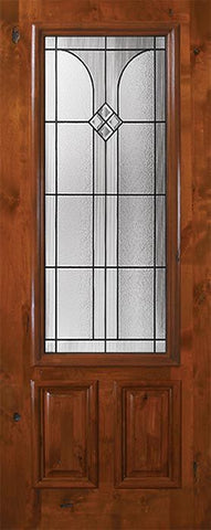 WDMA 36x80 Door (3ft by 6ft8in) Exterior Knotty Alder 36in x 80in 2/3 Lite Cantania Alder Door 1