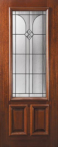 WDMA 36x80 Door (3ft by 6ft8in) Exterior Mahogany 36in x 80in 2/3 Lite Cantania Door 1