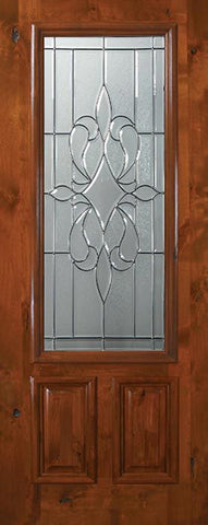 WDMA 36x80 Door (3ft by 6ft8in) Exterior Knotty Alder 36in x 80in 2/3 Lite New Orleans Alder Door 1