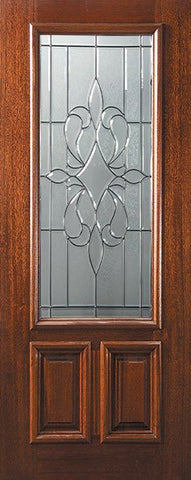 WDMA 36x80 Door (3ft by 6ft8in) Exterior Mahogany 36in x 80in 2/3 Lite New Orleans Door 1