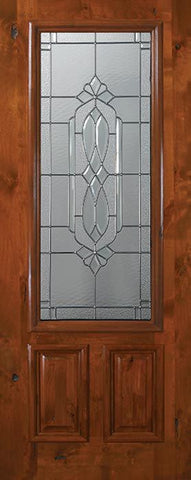 WDMA 36x80 Door (3ft by 6ft8in) Exterior Knotty Alder 36in x 80in 2/3 Lite Kensington Alder Door 1