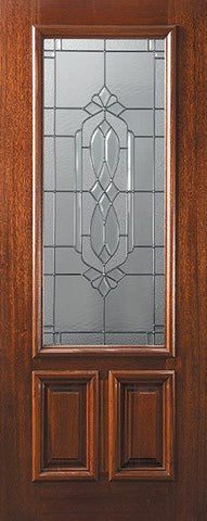 WDMA 36x80 Door (3ft by 6ft8in) Exterior Mahogany 36in x 80in 2/3 Lite Kensington Door 1
