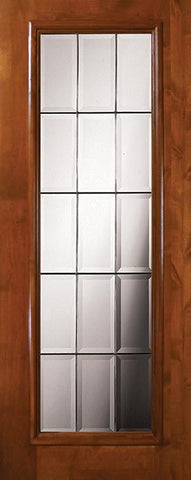 WDMA 36x80 Door (3ft by 6ft8in) Exterior Knotty Alder 36in x 80in Full Lite French Alder Door 1