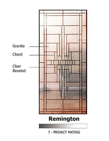 WDMA 36x80 Door (3ft by 6ft8in) Exterior Cherry Pro 80in 1 Panel 3/4 Lite Remington Door 2