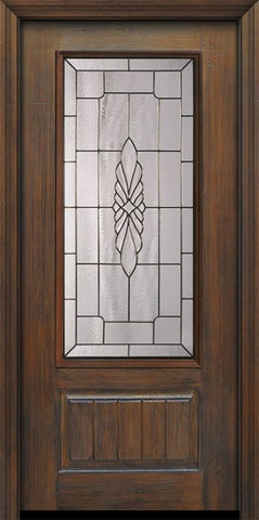 WDMA 36x80 Door (3ft by 6ft8in) Exterior Cherry Pro 80in 1 Panel 3/4 Lite Versailles Door 1